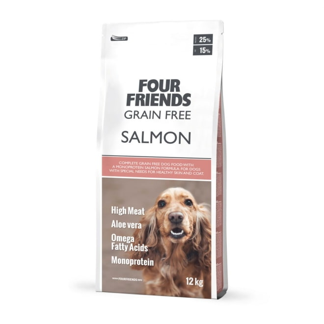 FourFriends Dog Grain Free Salmon (12 kg)