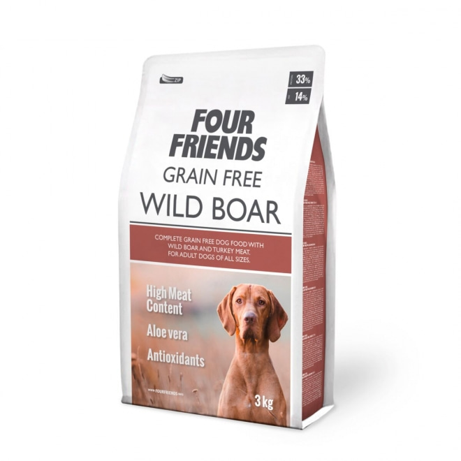 FourFriends Dog Grain Free Wild Boar (3 kg)
