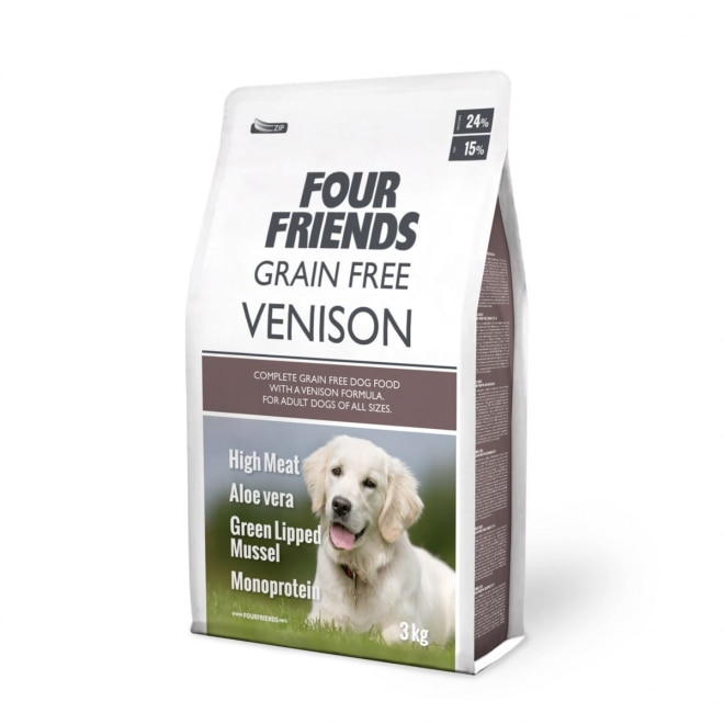 FourFriends Dog Grain Free Venison (3 kg)