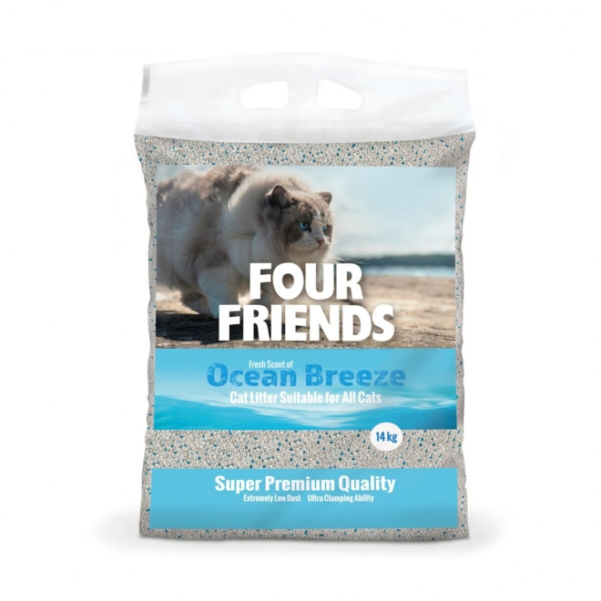 FourFriends Ocean Breeze Kattsand 14 kg