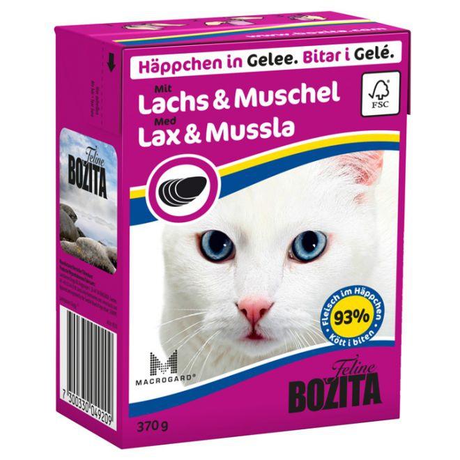 Bitar I Gelé Med Lax & Mussla Till Katt