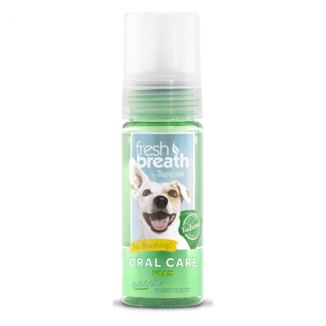 Tropiclean Fresh Breath Oral Care Mint Foam 133 ml
