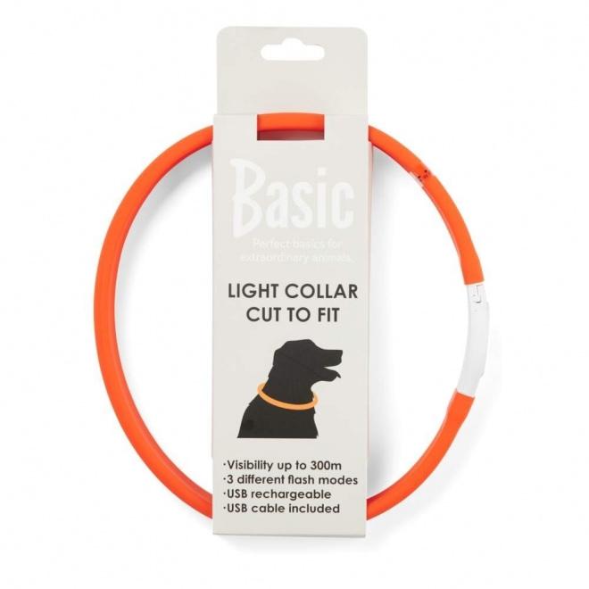 Basic Wide LED-halsband Orange