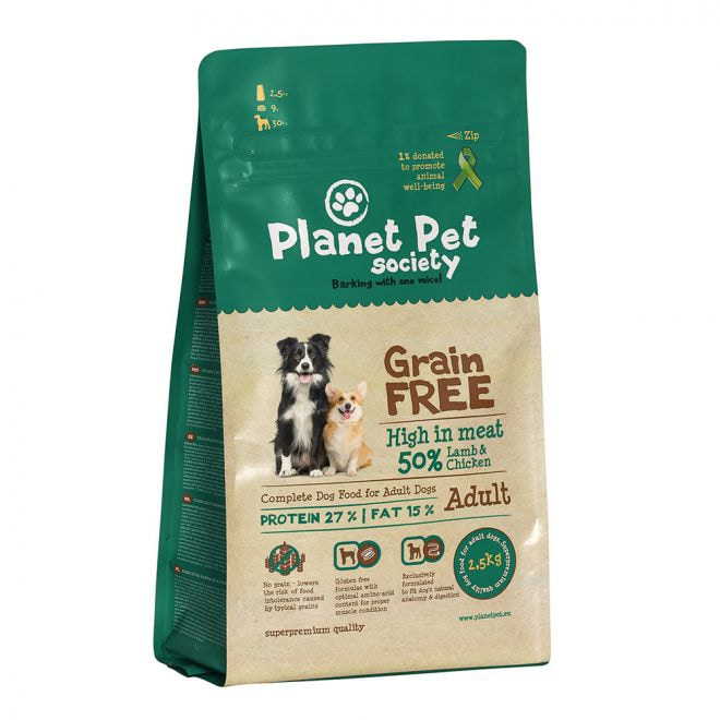 Planet Pet Society Grain Free Lamb & Chicken