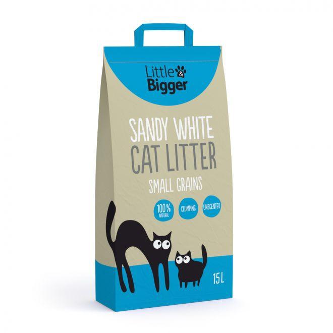 Little&Bigger Sandy White Kattsand