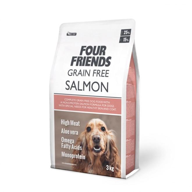 FourFriends Dog Grain Free Salmon (3 kg)