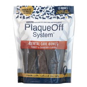 PlaqueOff Dental Care Bones Kalkon & Tranbär